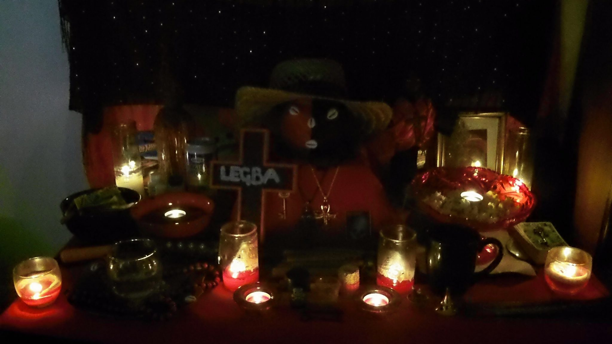Create a voodoo altar for Papa Legba