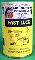 Fast Luck powder incense